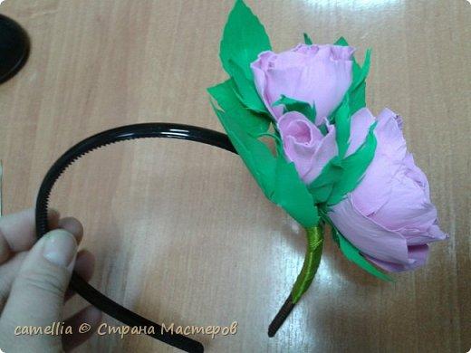 Ободок с цветком из фоамирана. фото 4