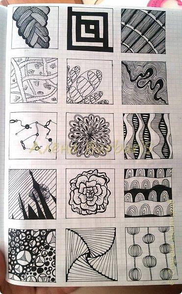 Продолжаю рисовать чиркалки, открыточки. Вот здесь http://stranamasterov.ru/node/576285 наткнулась на подобного рода работки. И даже название у этой техники оказывается  есть! :) Мудреное слово ЗЕНТАНГЛ!) А я все корявки-корявки )) шучу) Варина ручка) есть теневые ньюасы( ну первый зен комом...  фото 4
