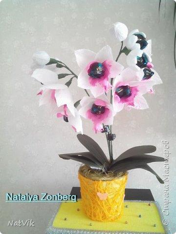 Здравствуйте. вот решила сделать орхидею. Если долго мучиться - что-нибудь получится )))))))))))) фото 1