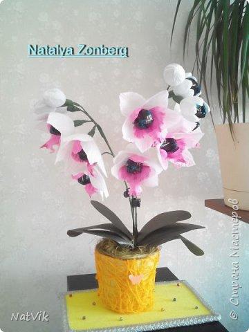 Здравствуйте. вот решила сделать орхидею. Если долго мучиться - что-нибудь получится )))))))))))) фото 2
