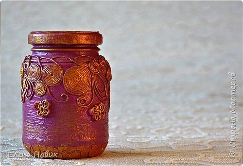 Все предметы декорированы в  технике пейп-арт Т.Сорокиной. Карандашница и баночка-шкатулка для внучки.  фото 2