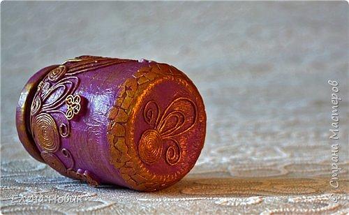 Все предметы декорированы в  технике пейп-арт Т.Сорокиной. Карандашница и баночка-шкатулка для внучки.  фото 3