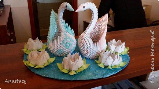 """Работа называется """"Лебеди на пруду""""  фото 3"""