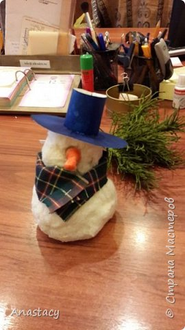 Ватный снеговик