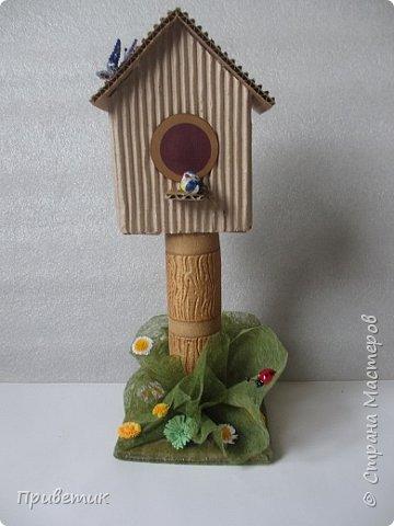 """Вчера позвонила внучка Вика- ей уже 2 года и 7 месяцев, и попросила """"домик для птички в садик"""". А меня если попросить, да еще сказать """"паалуста"""", то я сразу берусь за дело:) фото 1"""