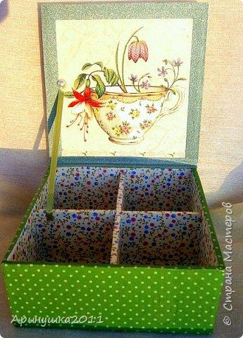 """Шкатулка для чайных пакетиков """"Прованс"""" фото 2"""