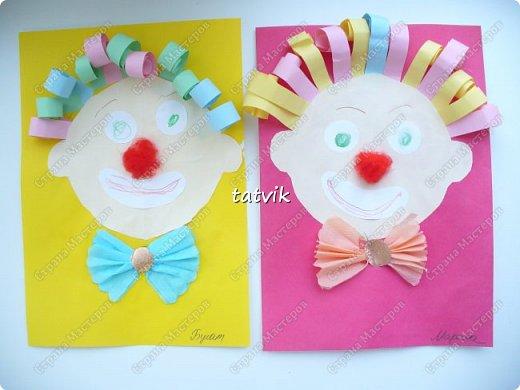 Таких весёлых клоунов мы недавно сделали с ребятами 5 - 6 лет.  фото 1