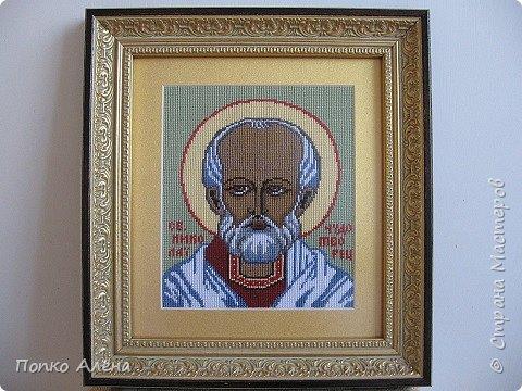 """Здравствуйте, Мастера и Мастерицы! """"Николай Чудотворец"""" моя вторая икона.  Празднество в честь Святого Николая осуществляется 2 раза в год. Наиболее известным является декабрьский праздник – 19 (6) декабря. Вторая дата – 22 (9) мая. фото 5"""