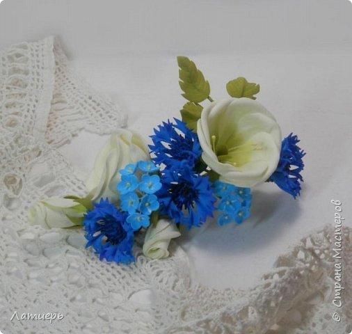 Приветствую, всех заглянувших! Вот и доросла я до свадебных букетов) Заказ для одной очаровательной невесты. фото 8