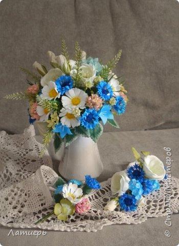 Приветствую, всех заглянувших! Вот и доросла я до свадебных букетов) Заказ для одной очаровательной невесты. фото 7