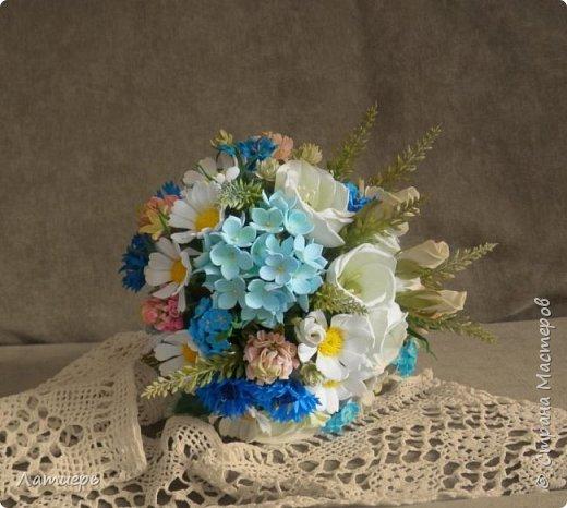 Приветствую, всех заглянувших! Вот и доросла я до свадебных букетов) Заказ для одной очаровательной невесты. фото 1
