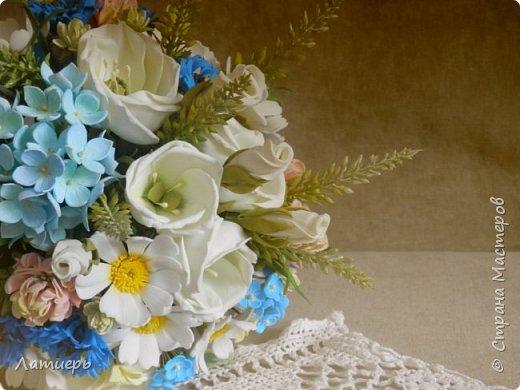 Приветствую, всех заглянувших! Вот и доросла я до свадебных букетов) Заказ для одной очаровательной невесты. фото 4