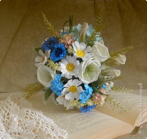 Приветствую, всех заглянувших! Вот и доросла я до свадебных букетов) Заказ для одной очаровательной невесты. фото 3