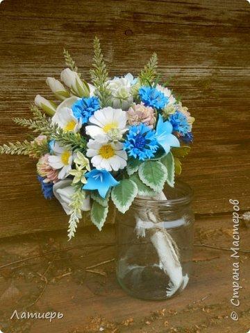Приветствую, всех заглянувших! Вот и доросла я до свадебных букетов) Заказ для одной очаровательной невесты. фото 5