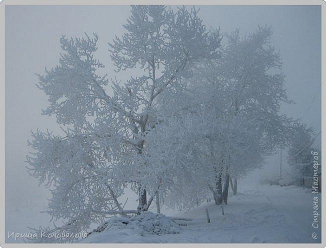 Все фотографии сделаны мною в начале января не помню точно какого года в Амурской области в г. Зея.. Там обычно, до начала ветров, до февраля, царствует такая красота. Основные фото сделаны на берегу реки Зея. Она, убегая от Зейской ГЭС,  долго не замерзает, что и дает возможность любоваться чудными пейзажами.   фото 2