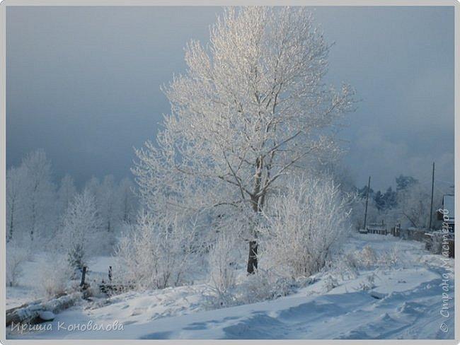 Все фотографии сделаны мною в начале января не помню точно какого года в Амурской области в г. Зея.. Там обычно, до начала ветров, до февраля, царствует такая красота. Основные фото сделаны на берегу реки Зея. Она, убегая от Зейской ГЭС,  долго не замерзает, что и дает возможность любоваться чудными пейзажами.   фото 13