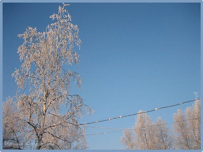 Все фотографии сделаны мною в начале января не помню точно какого года в Амурской области в г. Зея.. Там обычно, до начала ветров, до февраля, царствует такая красота. Основные фото сделаны на берегу реки Зея. Она, убегая от Зейской ГЭС,  долго не замерзает, что и дает возможность любоваться чудными пейзажами.   фото 25