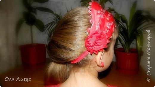 "Повязка для волос в стиле ""ШЕББИ-шик"" ! фото 2"