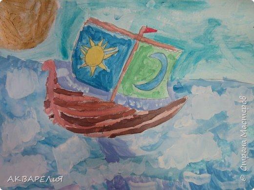 Мы рисуем корабли! (возраст юных художников 7-8 лет) фото 3