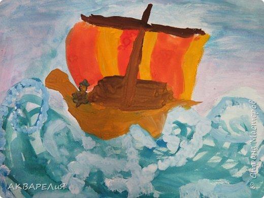 Мы рисуем корабли! (возраст юных художников 7-8 лет) фото 1