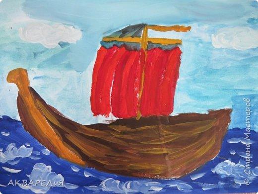 Мы рисуем корабли! (возраст юных художников 7-8 лет) фото 6