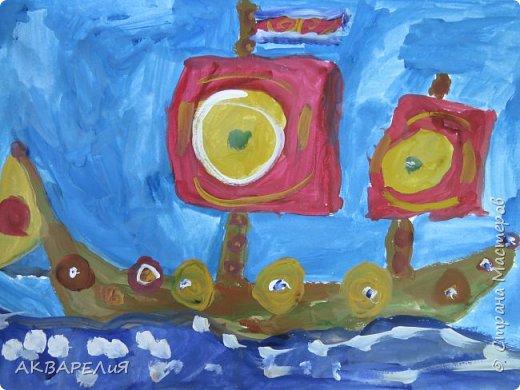 Мы рисуем корабли! (возраст юных художников 7-8 лет) фото 2