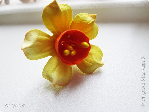 Добрый вечер, жители и гости Страны Мастеров! Для одной из работ потребовались мне цветы нарцисса, хочу поделиться с вами этапами изготовления цветка, возможно вам пригодится для весенних работ. фото 28