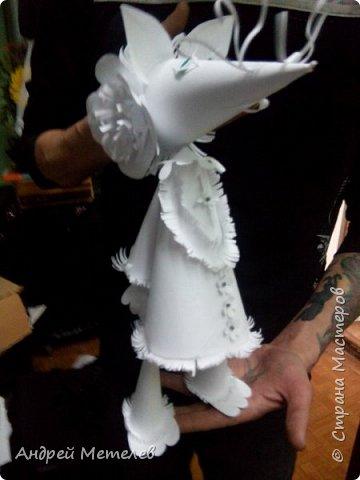 """Лиса для нашего нового спектакля. Кукла - планшетная. Лапы, голова - динамические. Переделал из марионетки. Размер - около 40 см. Была еще Лиса для подарка коллегам - театралам в городе Мурманск - 1 метр )))) Мы привозили на конкурс басню """"Ворона и Лисица"""" Крылова. фото 3"""