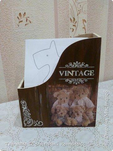 """Подставка для бумаги """"Мишутки"""" для выкроек игрушек и кукол (двухсторонняя) фото 2"""