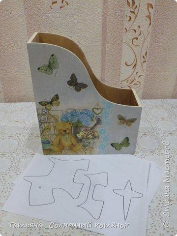 """Подставка для бумаги """"Мишутки"""" для выкроек игрушек и кукол (двухсторонняя) фото 3"""