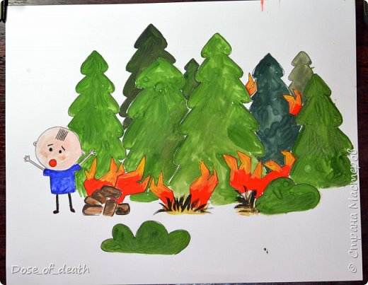 """Мы с сыном сделали несколько работ для садика, на тему: """"Пожарная безопасность"""". Некоторые идеи были взяты со СМ. Спасибо авторам. Точно сказать не могу, т.к. я пересмотрела очень много работ. фото 2"""
