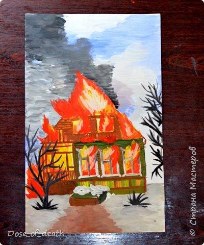 """Мы с сыном сделали несколько работ для садика, на тему: """"Пожарная безопасность"""". Некоторые идеи были взяты со СМ. Спасибо авторам. Точно сказать не могу, т.к. я пересмотрела очень много работ. фото 3"""