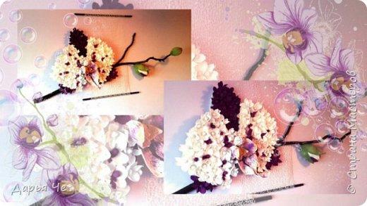 """""""Сто и ОДНА орхидея""""  МОИ ОРХИДЕИ  Жду мыслей тысячи касаний,  как ждёт младенец молока,  как ждёт искусство дарований,  как ждёт учёба дурака..   Я жду рождения идеи,  чтоб обратить её в цветы.  И будут пахнуть орхидеи  на благо общей суеты.   Автор: ВИТАЛИ ВИДАЛЬ  Настенное панно. Общий размер - 160 см х 90 см. Размер цветка 70 см х 60 см.  Состав материалов: бумага гофрированная, нитки, клей, пеноплекс, сетка флористическая, ветки сосновые, поролон, зубочистки, краски гуашевые. Состав конфет: """"Sharlet"""" трюфель 100 штук. фото 1"""