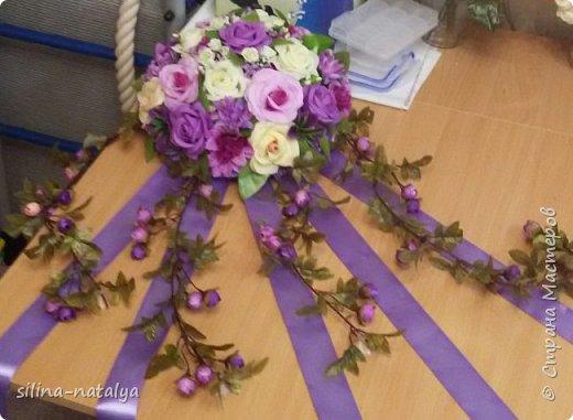 Украшение на свадебные машины фото 6