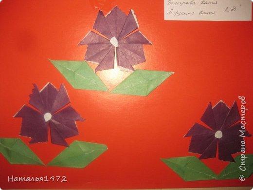 Цветы оригами фото 5