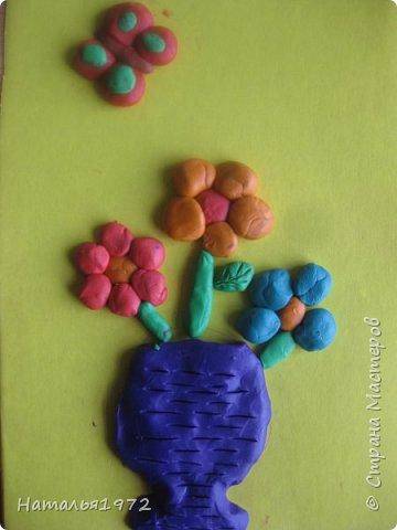 Пластилиновые цветы фото 2