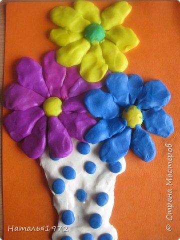 Пластилиновые цветы фото 4