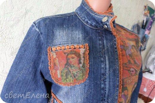 """на тему """"картина в раме"""" меня вдохновила форма кармана. скучная куртка досталась мне по случаю - выбрасывали ее не ношеной. скучная, хоть и дорогая фирма. я ее """"полюбила"""". и вот отдаю на ваш суд! фото 1"""
