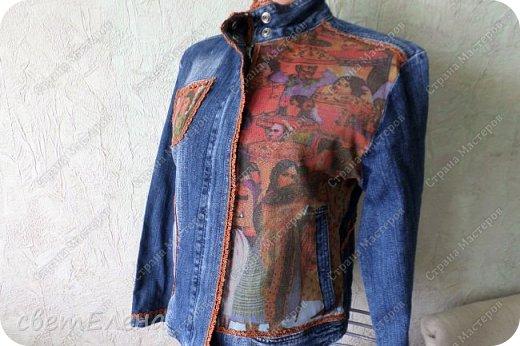 """на тему """"картина в раме"""" меня вдохновила форма кармана. скучная куртка досталась мне по случаю - выбрасывали ее не ношеной. скучная, хоть и дорогая фирма. я ее """"полюбила"""". и вот отдаю на ваш суд! фото 4"""