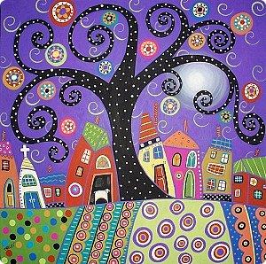 Здравствуйте, уважаемые жители Страны Мастеров. На одном из сайтов в интернете я увидела замечательные картины художницы Карлы Жерар. Вдохновившись, я принялась за работу, результатами которой хочу поделиться с вами. Размер панно 116х90см.  фото 21