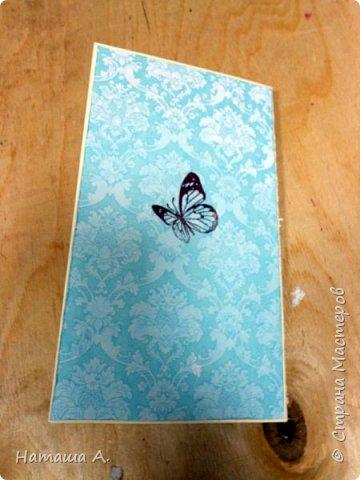Простая открытка, сделана по просьбе и с моей помощью молодой девушкой. Идея оформления моя. Размер 10х18. фото 3