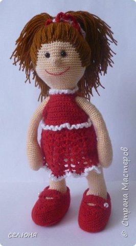 Моя красавица куколка родилась при помощи ниток акриловых и крючка фото 4