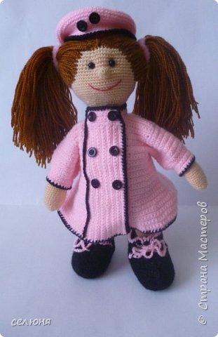 Моя красавица куколка родилась при помощи ниток акриловых и крючка фото 5