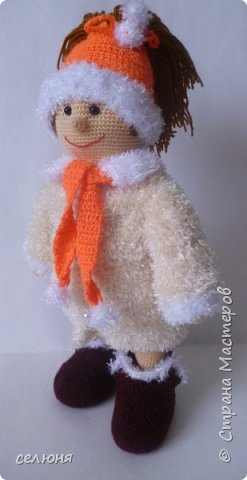 Моя красавица куколка родилась при помощи ниток акриловых и крючка фото 7