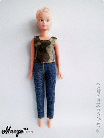 Решила я возобновить свое увлечение кукольной одежды. Тем более теперь, когда у меня появилась машинка! Топ шился без выкройки. Лосины с выкройкой, которая будет в самом низу. фото 7