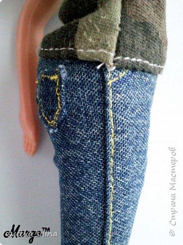 Решила я возобновить свое увлечение кукольной одежды. Тем более теперь, когда у меня появилась машинка! Топ шился без выкройки. Лосины с выкройкой, которая будет в самом низу. фото 8
