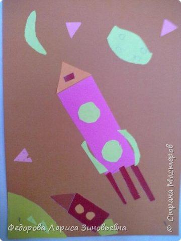 """Доброе утро всем. Предлагаю вашему вниманию работы учеников на конкурс """"День космонавтики"""".Первая работа ученицы 3 класса. фото 2"""
