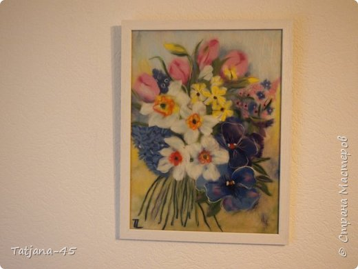 Картина из шерсти по мотивам картины Яны Богдановой. фото 2