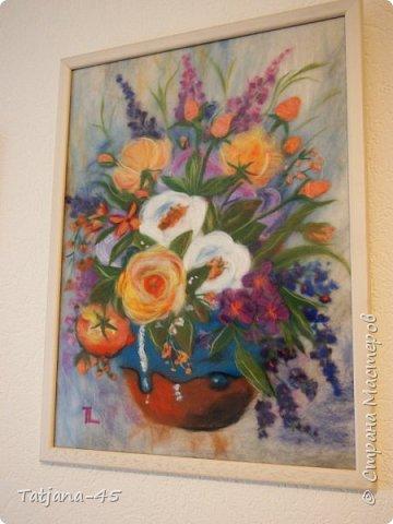 Картина из шерсти по мотивам картины Яны Богдановой. фото 3