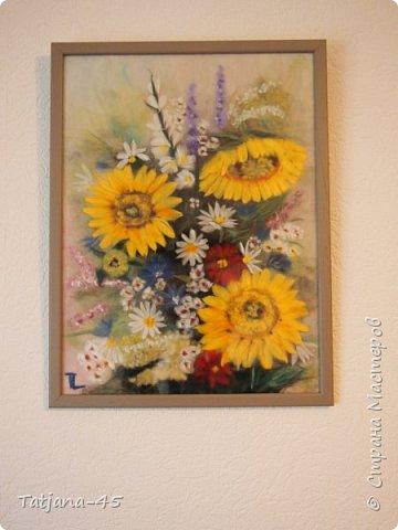 Картина из шерсти по мотивам картины Яны Богдановой. фото 1